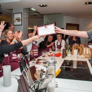 Вручение кулинарных дипломов в Академии дель Густо
