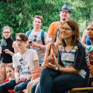 посетители летнего фестиваля