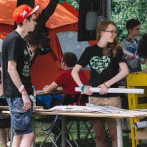 волонтеры на фестивале Geek Picnic