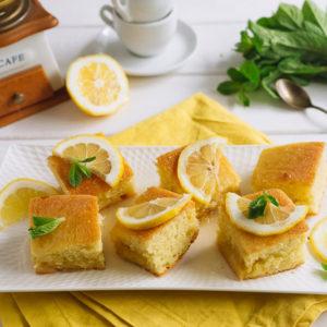 лимонный бисквит с меренгой