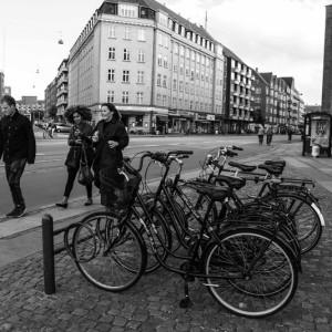 Припаркованные велосипеды в Копенгагене