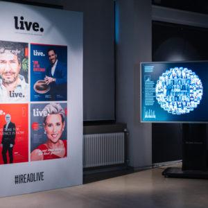 Выставочная зона Live Magazine