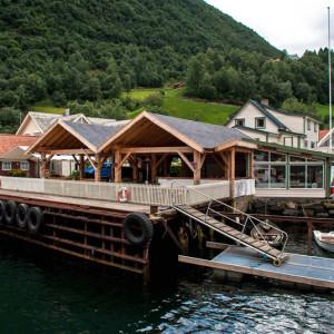 Причал норвежской деревни Ундредал