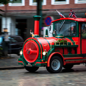 Туристический трамвайчик в Бергене